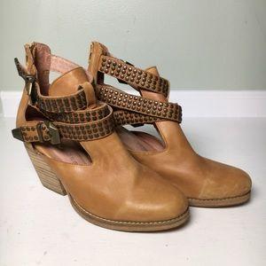 Jeffrey Campbell Watson Leather Cutout Booties